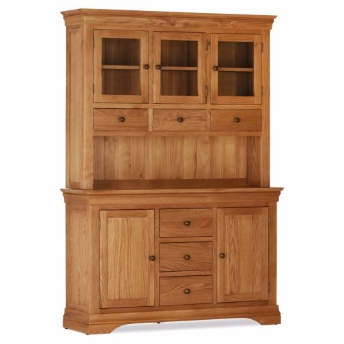 Discounted Doral Oak 2 Door / 3 Drawer Sideboard Plus Hutch | Oak Furniture Online
