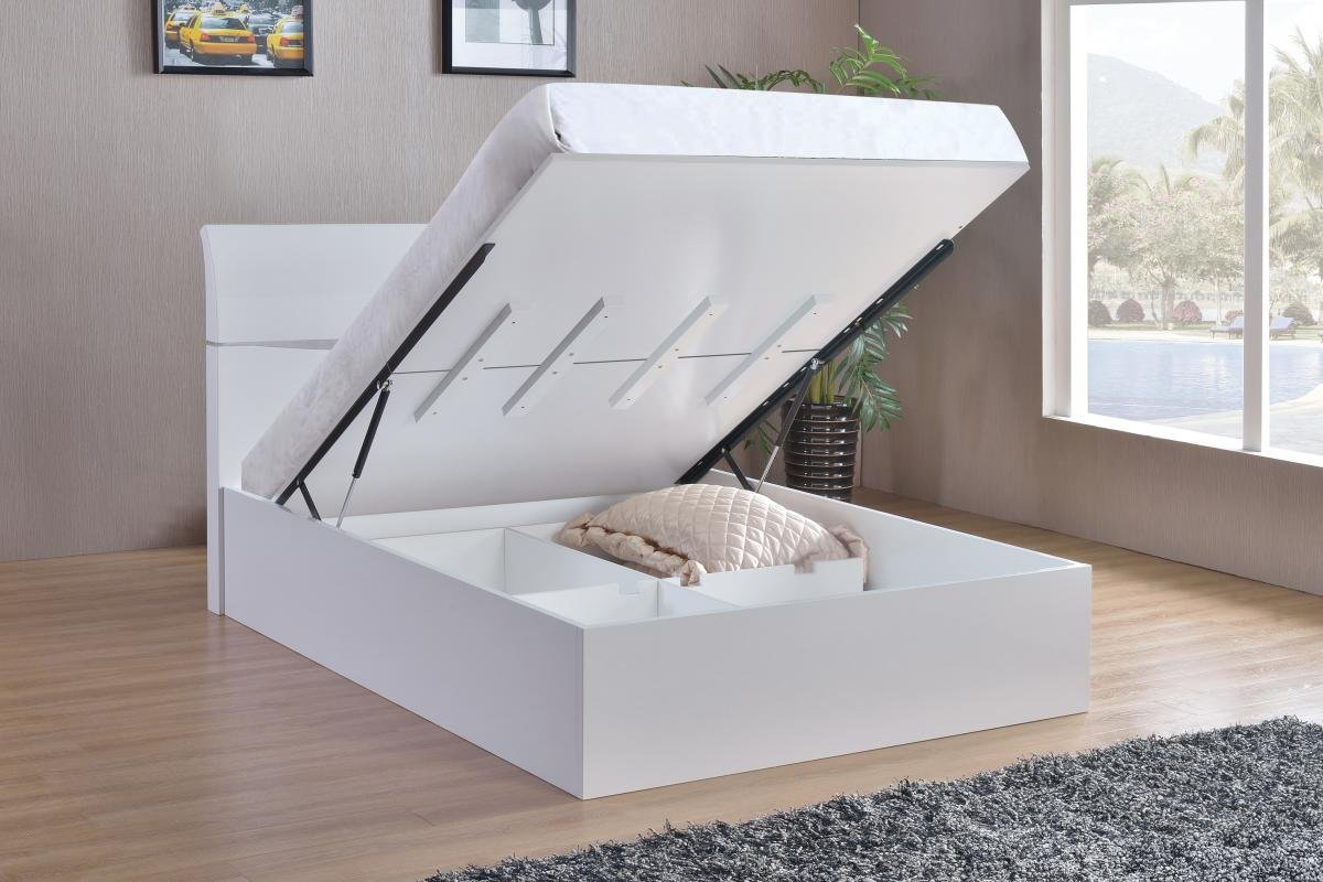Cheap Arden High Gloss Storage Bed Double | Online Furniture