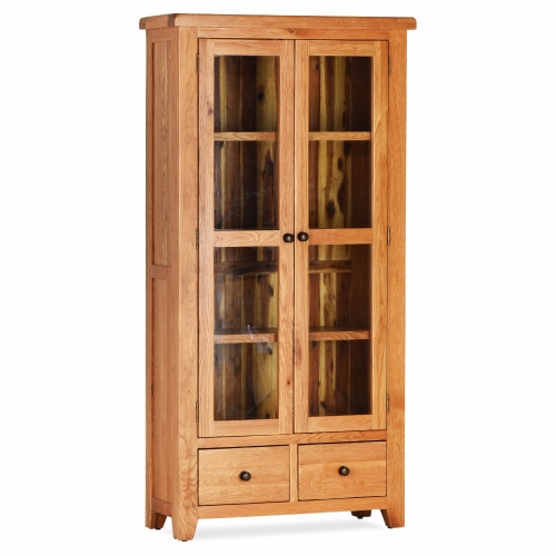 Great Deals on Oak Orland Double Display Cabinet | Furniture Villa Online