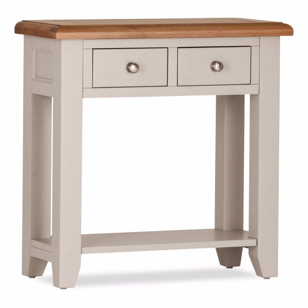 100 % Solid Oak Vinton Console Table 2 Drawers | Furniture Villa