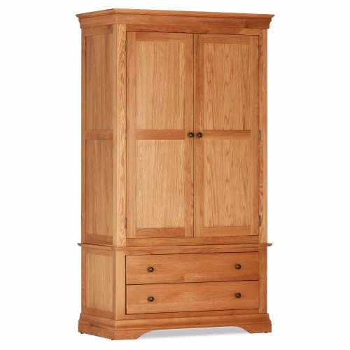 Stunning Bedroom Doral Oak Double Wardrobe