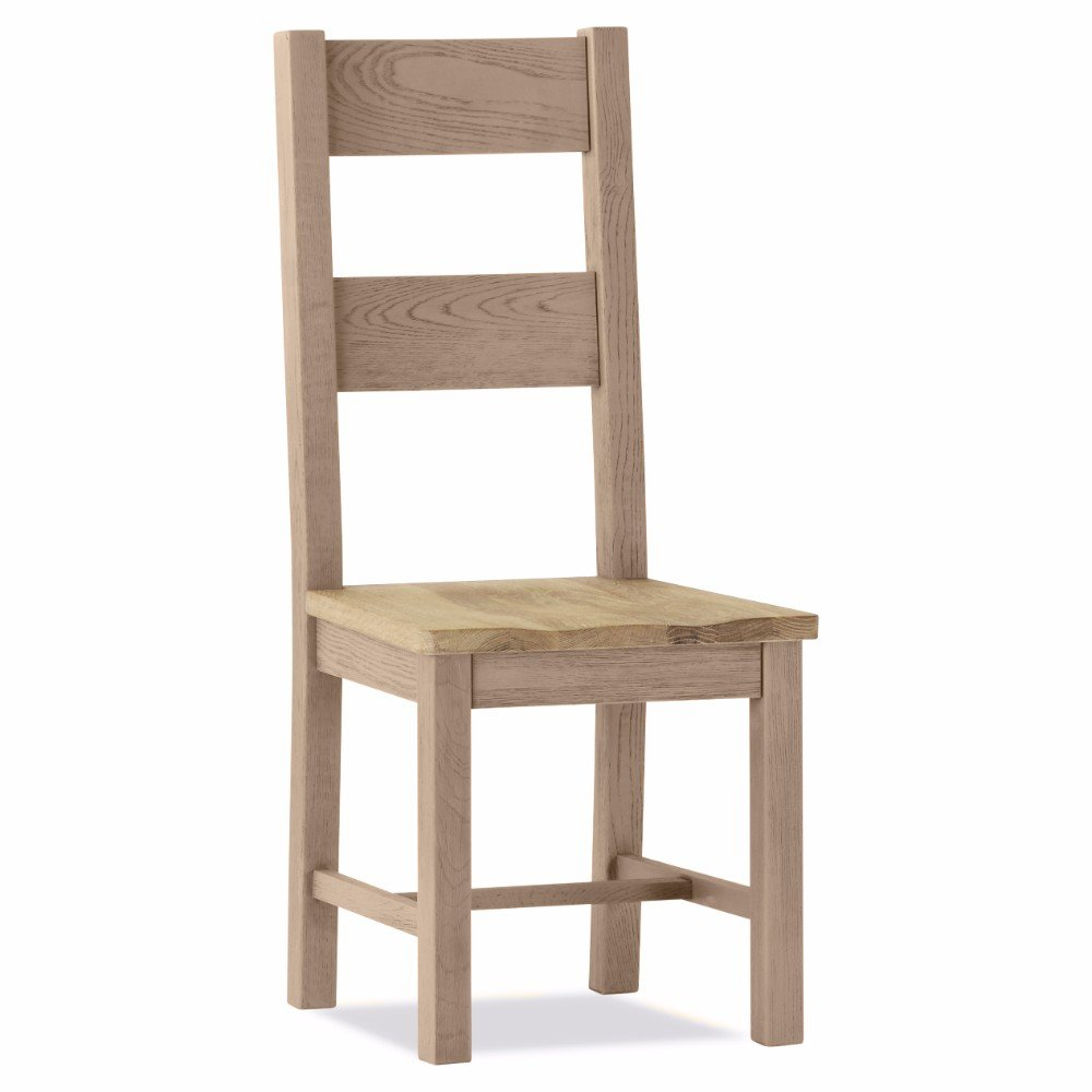 100% Oak Scotia Dining Chair Wooden Seat With Discounted Price