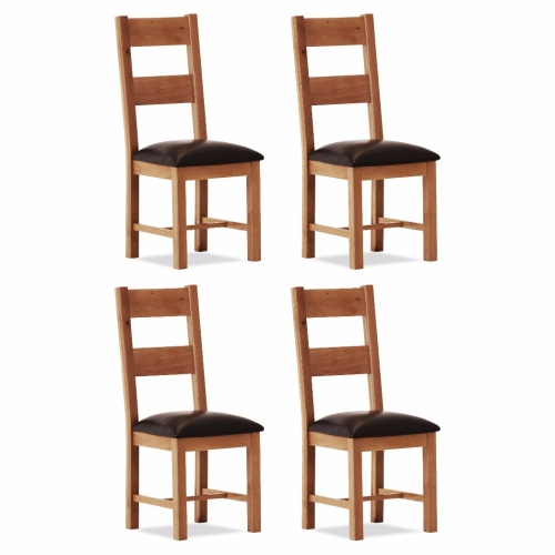 100% Oak Orland Large Dining Chair (Set of 4