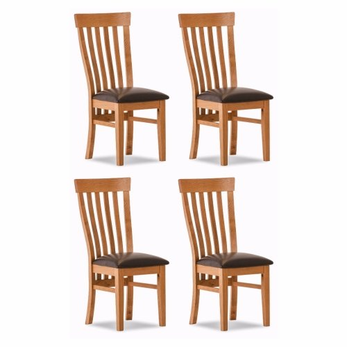 100% Oak Doral Oak Dining Chair (Set of 4