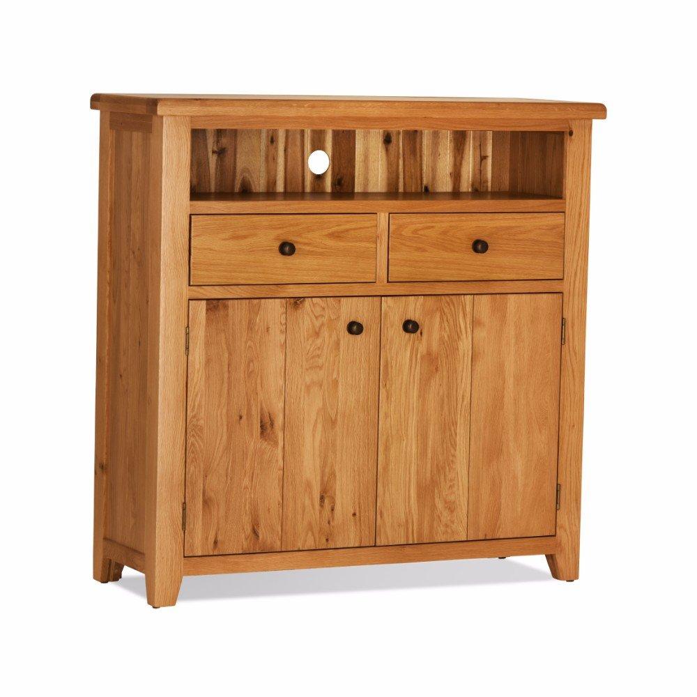 Cheap Oak Orland High TV Unit | Oak Furniture Online