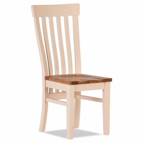 100% Oak Jenison Curved Dining Chair Wooden Seat