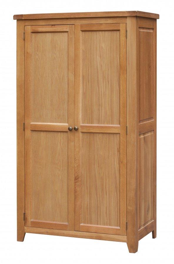 Stunning Bedroom Acorn Solid Oak Wardrobe 2 Door Full Hanging