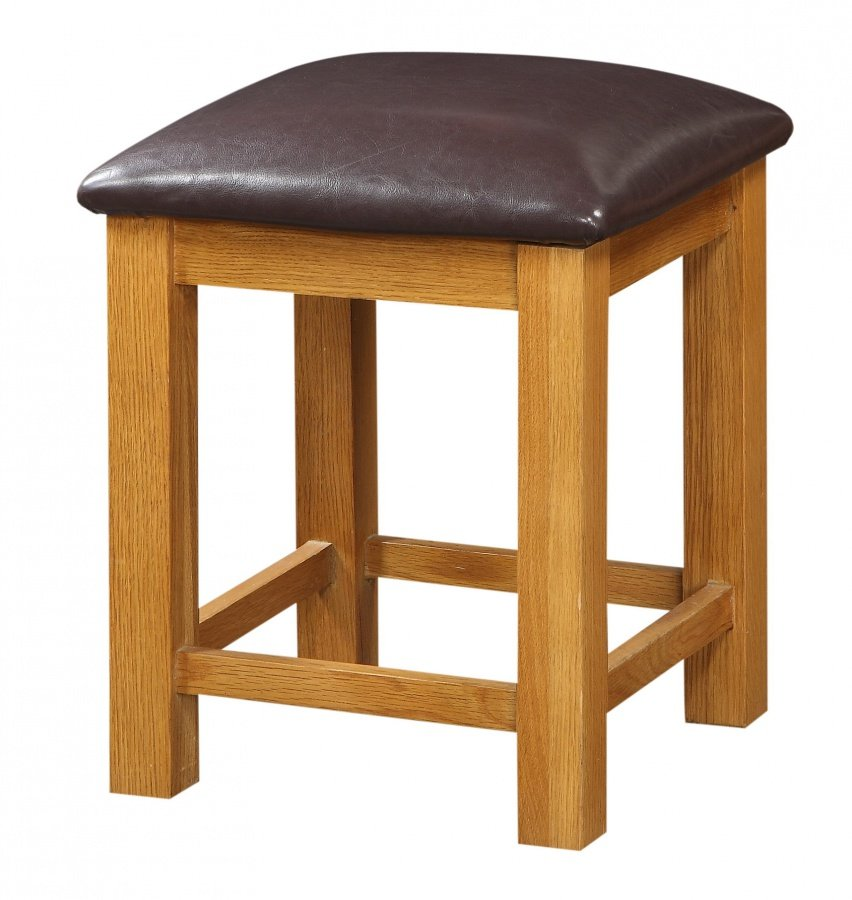 Designer Acorn Solid Oak Dressing Table Stool | Modern & Retro Bar Stools | Online Furniture UK