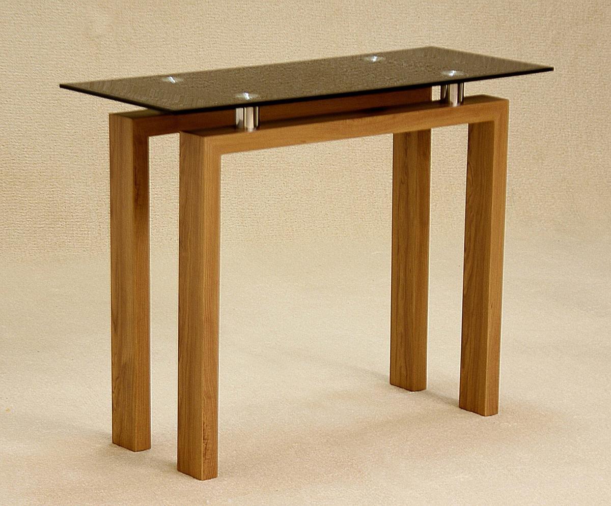 100 % Solid Oak Adina Black Console Table | Furniture Villa