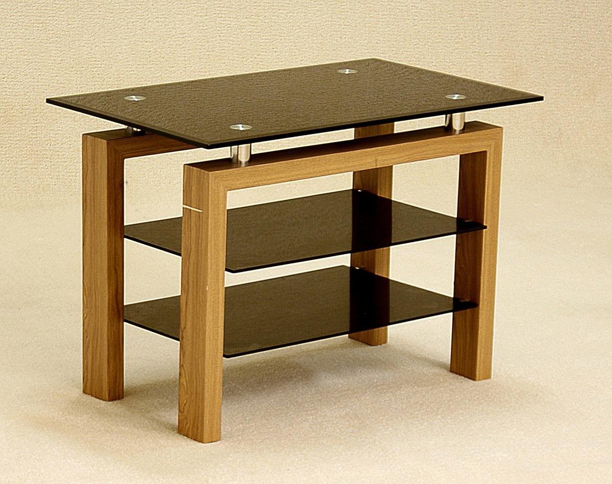 Cheap Oak Adina Black TV Bench   Oak Furniture Online