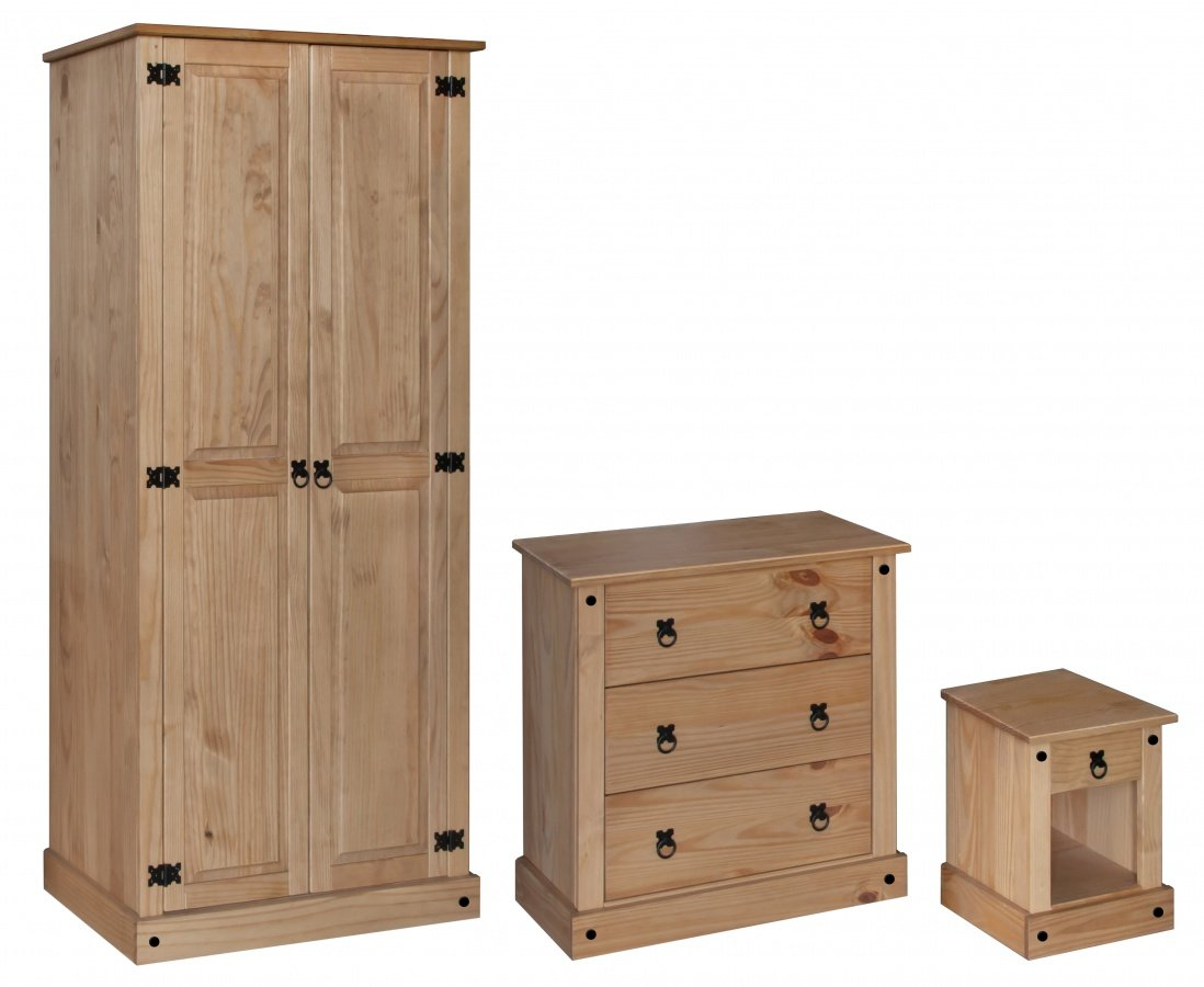Amazing Amazon Trio Wardrobe, Chest & Bedside Online
