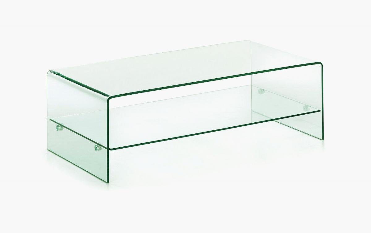 Get FREE Shipping On Exclusive Angola Clear Coffee Table with Shelf