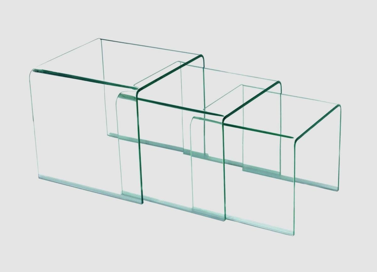 Clear Glass Nest Of Tables