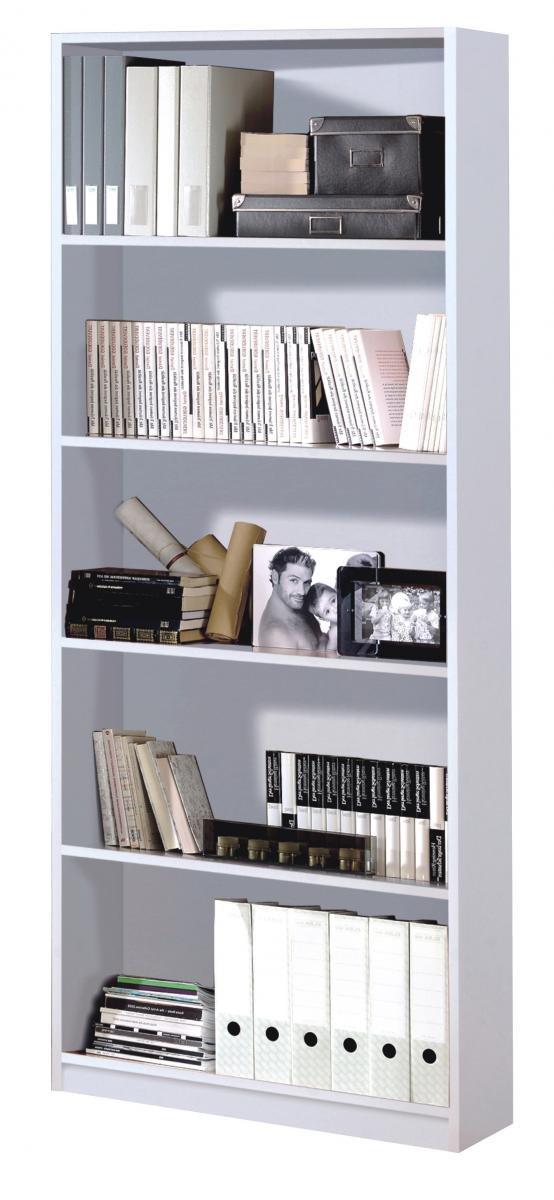 Stylish Bedroom Arctic Book Shelf 5 Shelves High Shine White