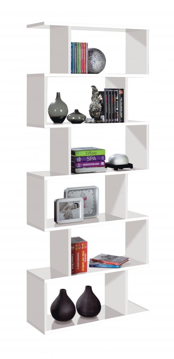 Bedroom Arctic Bookcase Tall High Shine White | White Bookcase