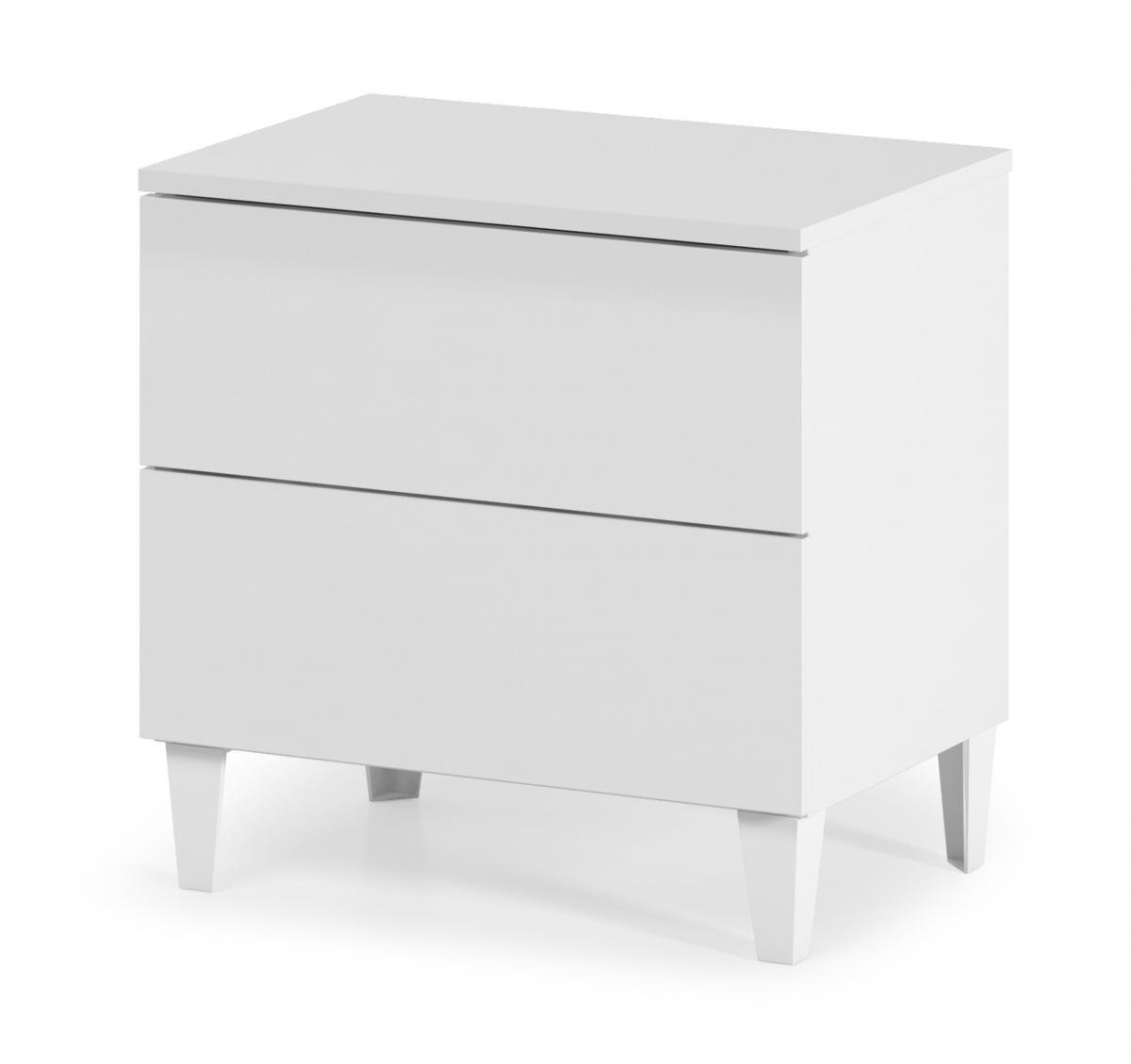 Cheap Arctic Chest 2 Drawer High Shine White for your Bedroom