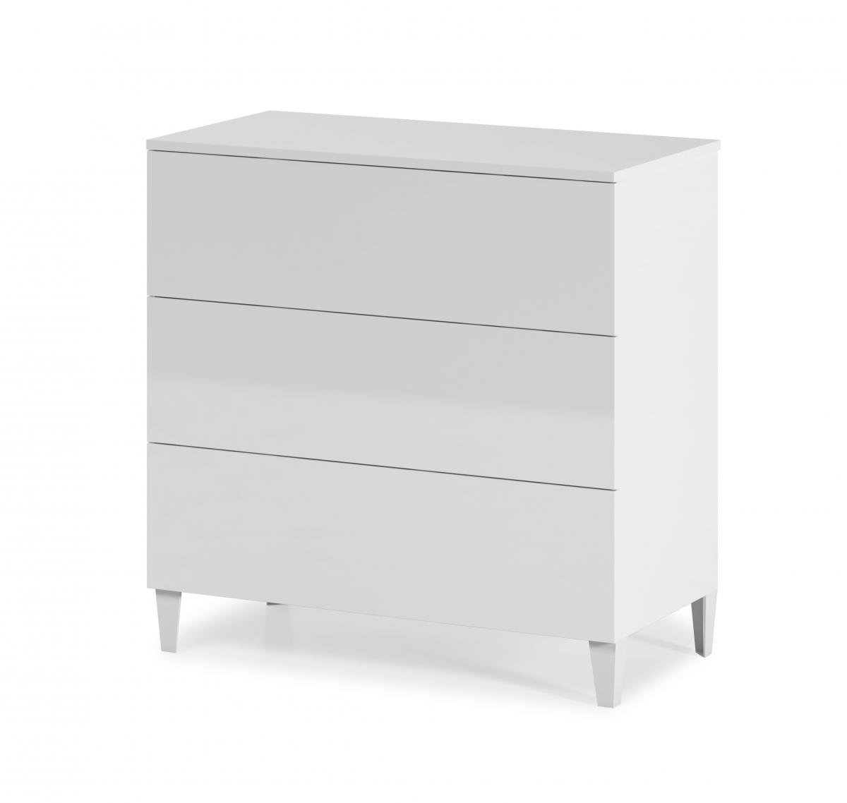 Cheap Arctic Chest 3 Drawer High Shine White for your Bedroom