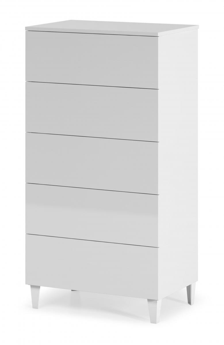 Cheap Arctic Chest 5 Drawer High Shine White for your Bedroom