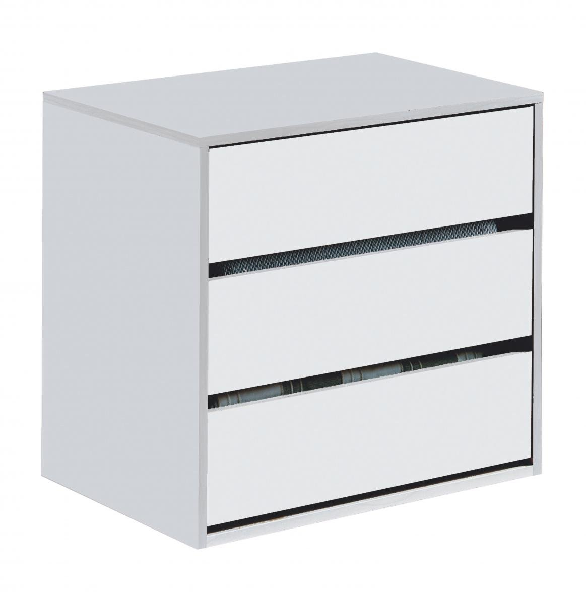 Cheap Arctic Drawer Unit 3 Drawer High Shine White for your Bedroom