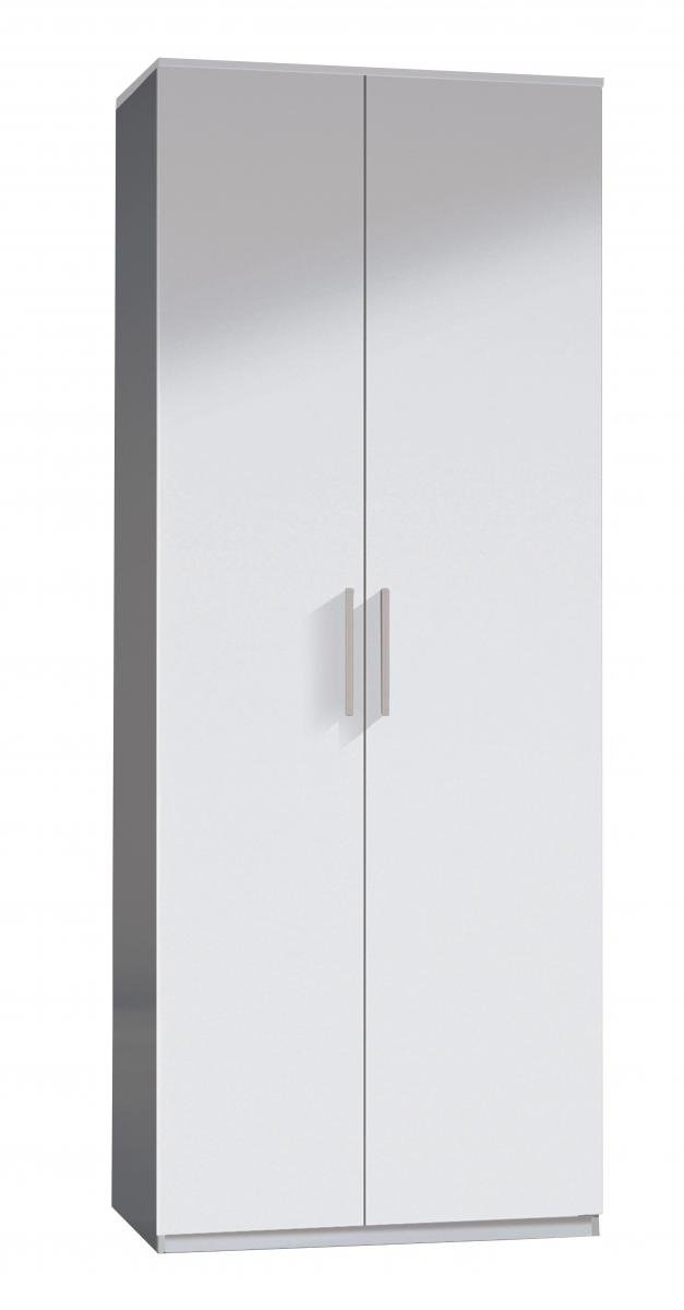 Stunning Bedroom Arctic Wardrobe 2 Door High Shine White