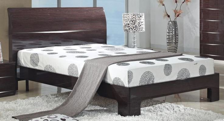 Discounted Arden/Widney High Gloss Bed Double