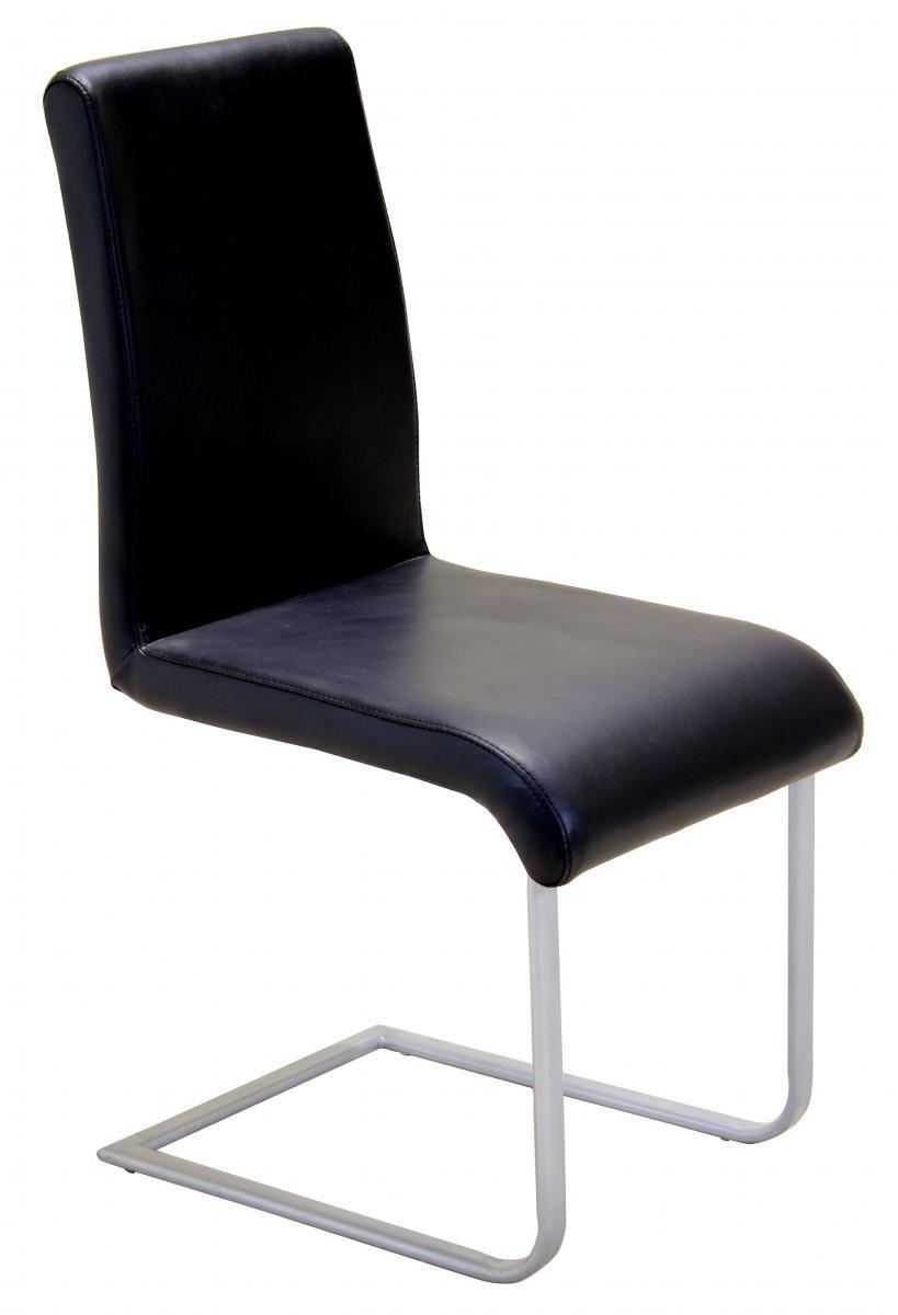 100% Oak Aspen Chair Black PVC & Silver