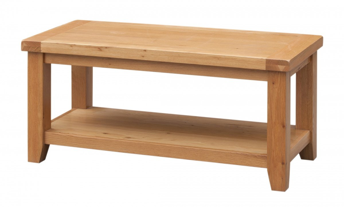 Get FREE Shipping On Exclusive Acorn Solid Oak Coffee Table with Shelf