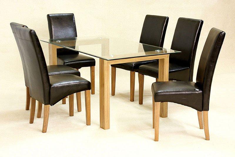 Adina Dining Set Small Oak 4 Cyprus Chairs