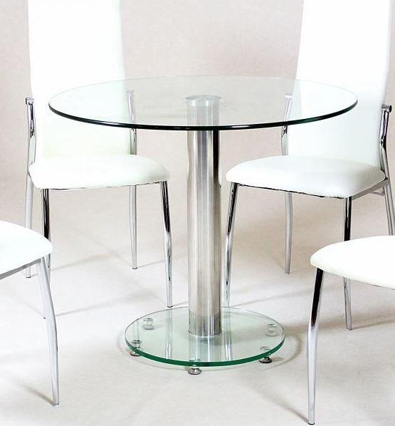 100% Oak Alonza Dining Table Clear