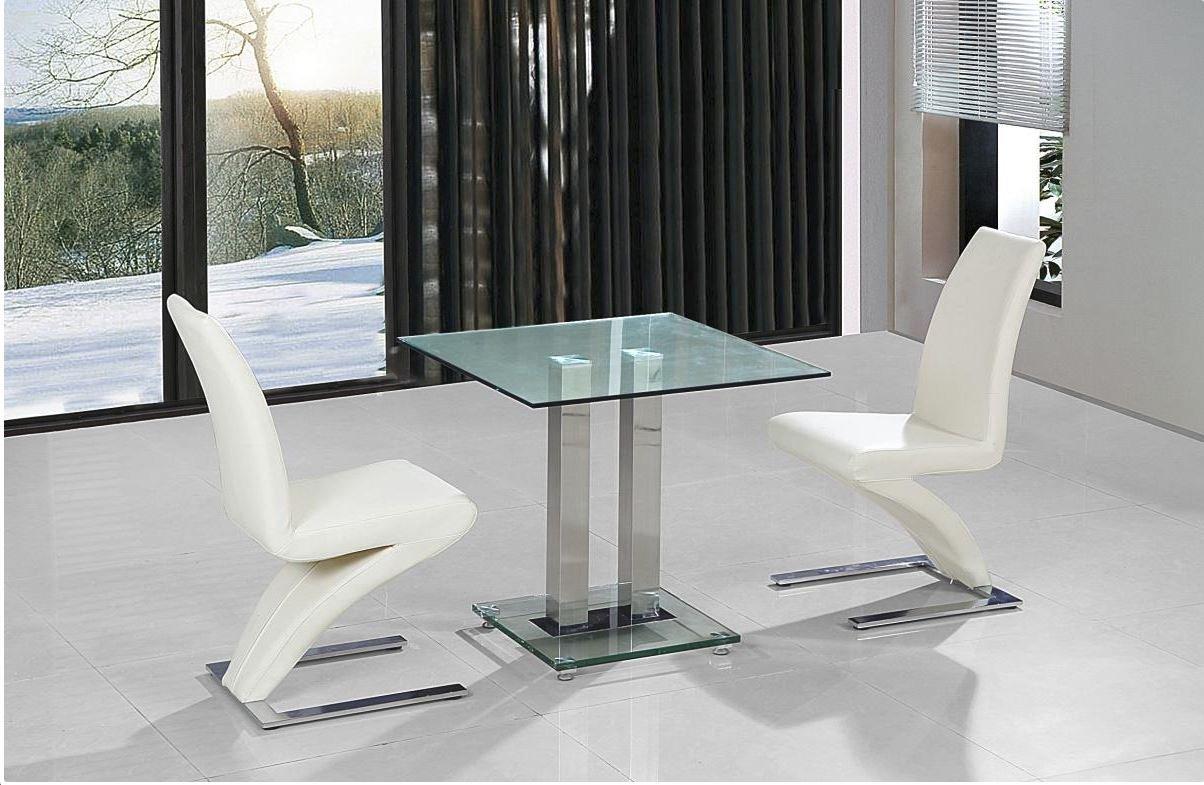 100% Oak Ankara Small Dining Table Chrome