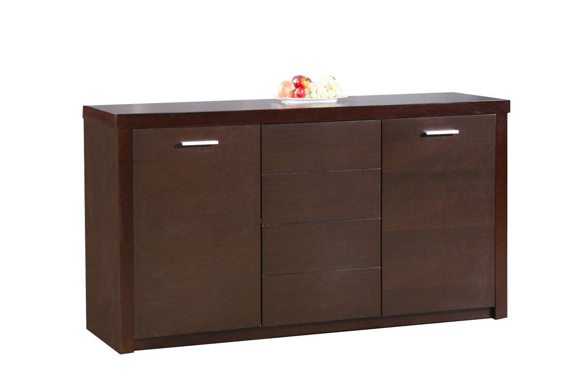 Discounted Baltic Sideboard with 3 Doors Dark Walnut | Oak Furniture Online