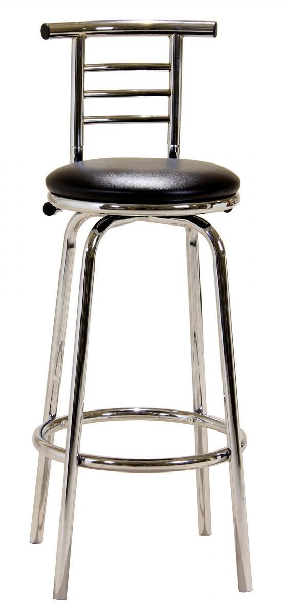 Best Deals on Bar Stool Chrome Swivel Narrow Back BM-015P   Furniture Villa