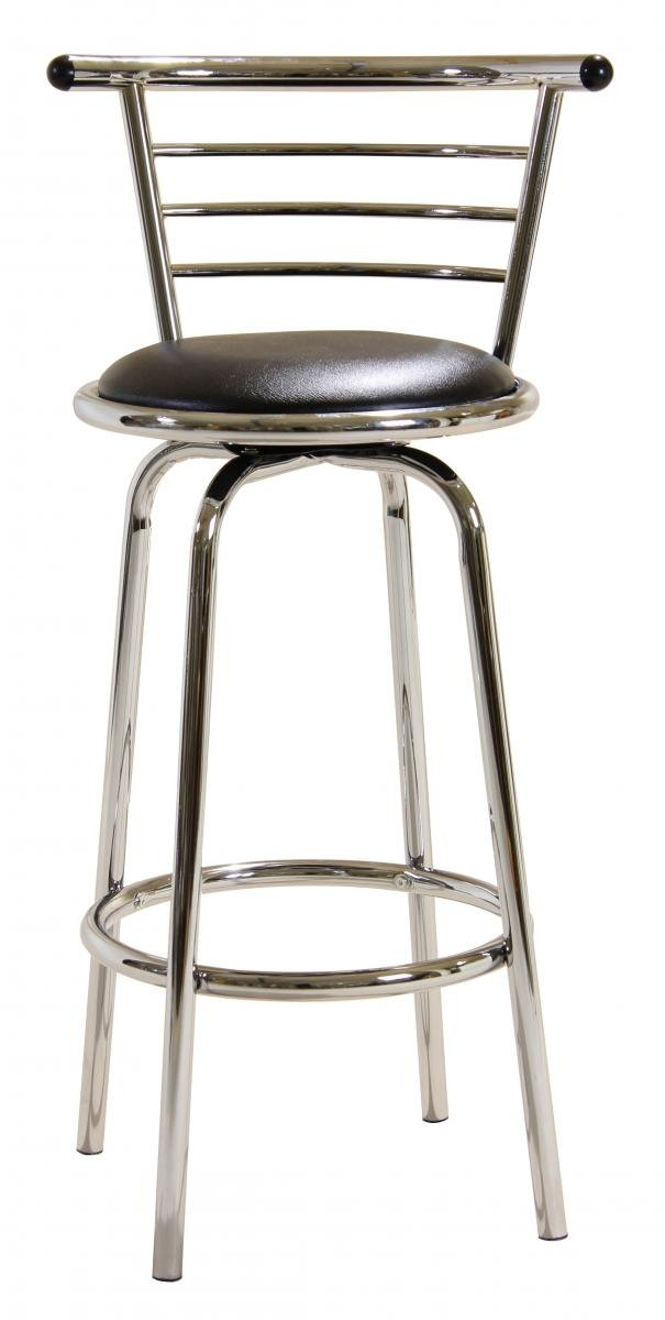 Best Deals on Bar Stool Chrome Swivel Wide Back BM-020P | Furniture Villa