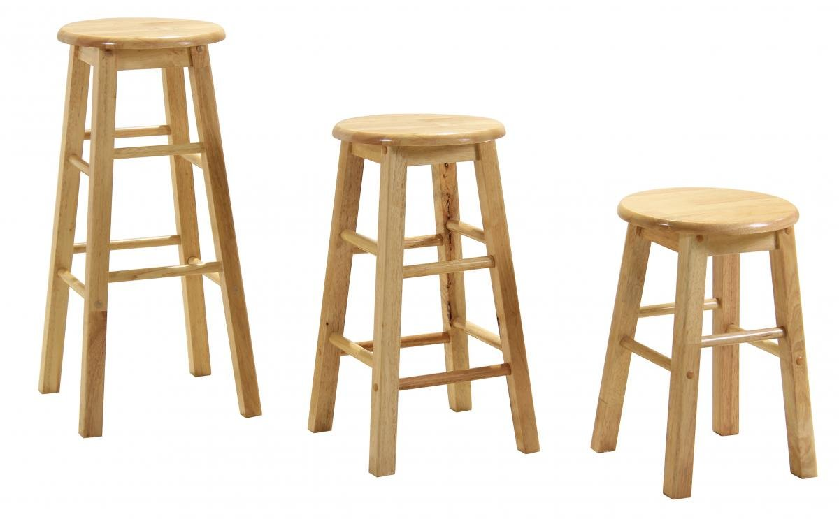 Best Deals on Bar Stool 18 Natural (Sold in Pairs) | Furniture Villa