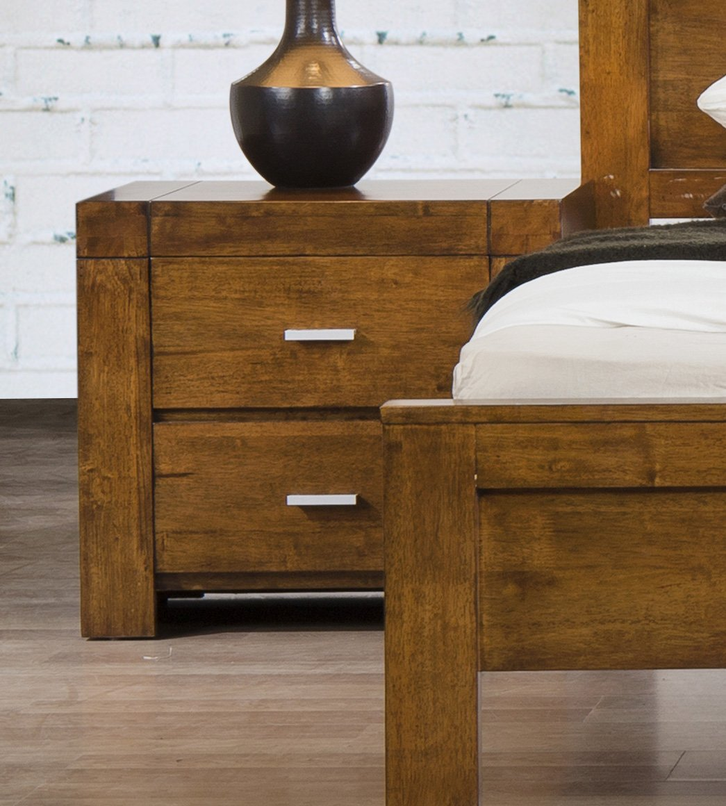 Stunning bedroom california nightstand solid rubberwood rustic oak
