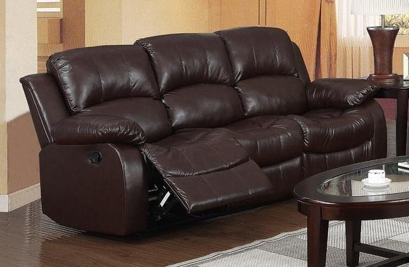 Carlino Recliner Full Bonded Leather Sofa