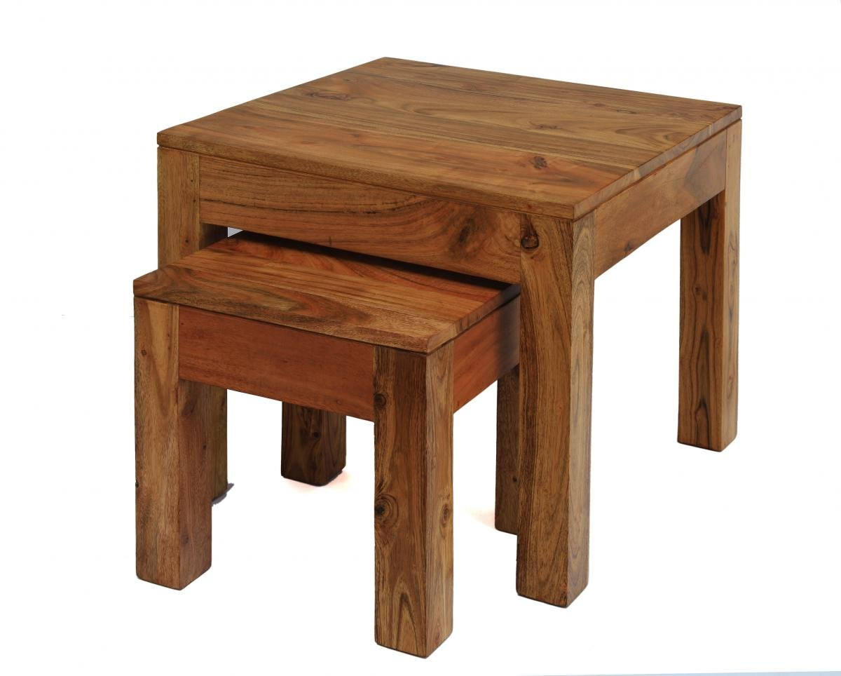 Buy Oak Carnival Light Nest of Tables Online