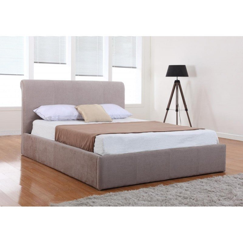Carrie Storage Chenille King Size Bed Mink Online