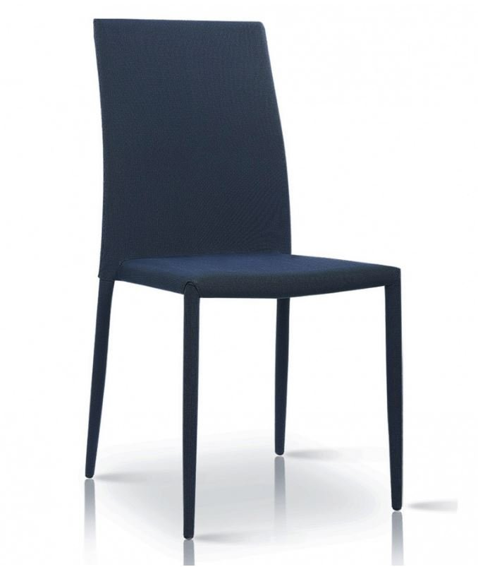 Dinning Chair | Chatham Fabric Chair Black with Black Metal Legs
