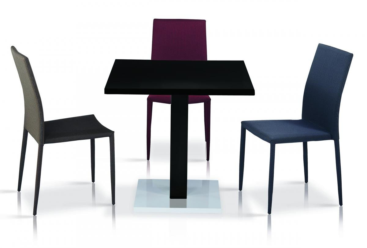 Chatham High Gloss Table with Stainless Steel Base 4 Chairs