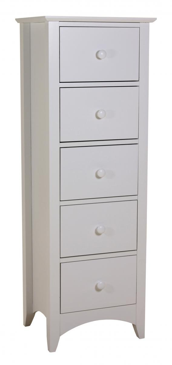 Cheap Chelsea White Chest 5 Drawer for your Bedroom
