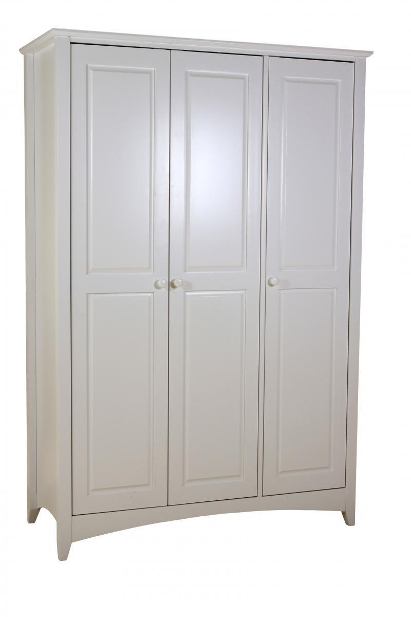 Stunning Bedroom Chelsea White Wardrobe 3 Door