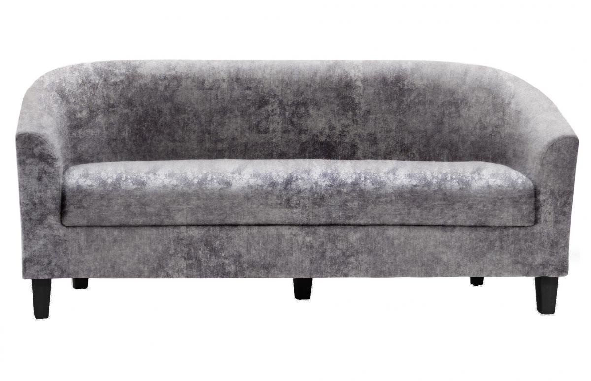 Great Discount on Claridon 3 Seater Sofa Crushed Velvet Silver | Oak Furniture Online