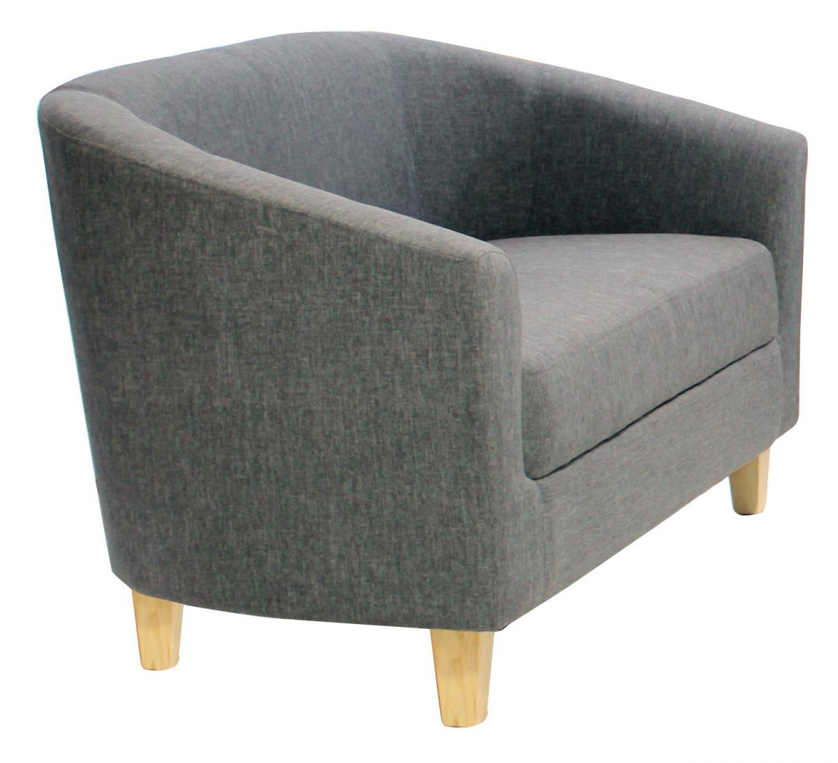 Great Discount on Claridon 2 Seater Sofa Linen Fabric Dark Grey   Oak Furniture Online