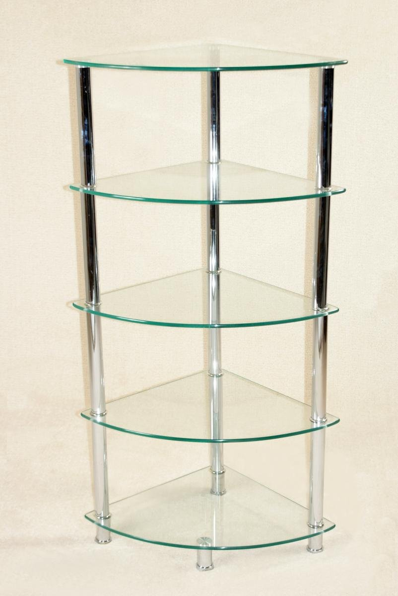 Cologne Corner Unit 5 Shelves | Oak Furniture Online