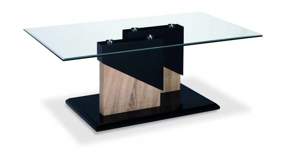 Get FREE Shipping On Exclusive Coopers Glass Coffee Table Black & Natural