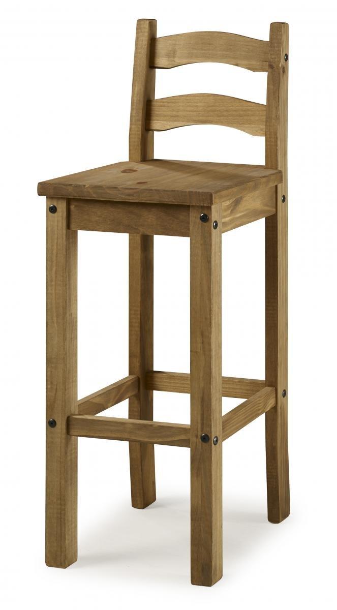 100% Oak Corona Bar Chairs (Packed in 2s)