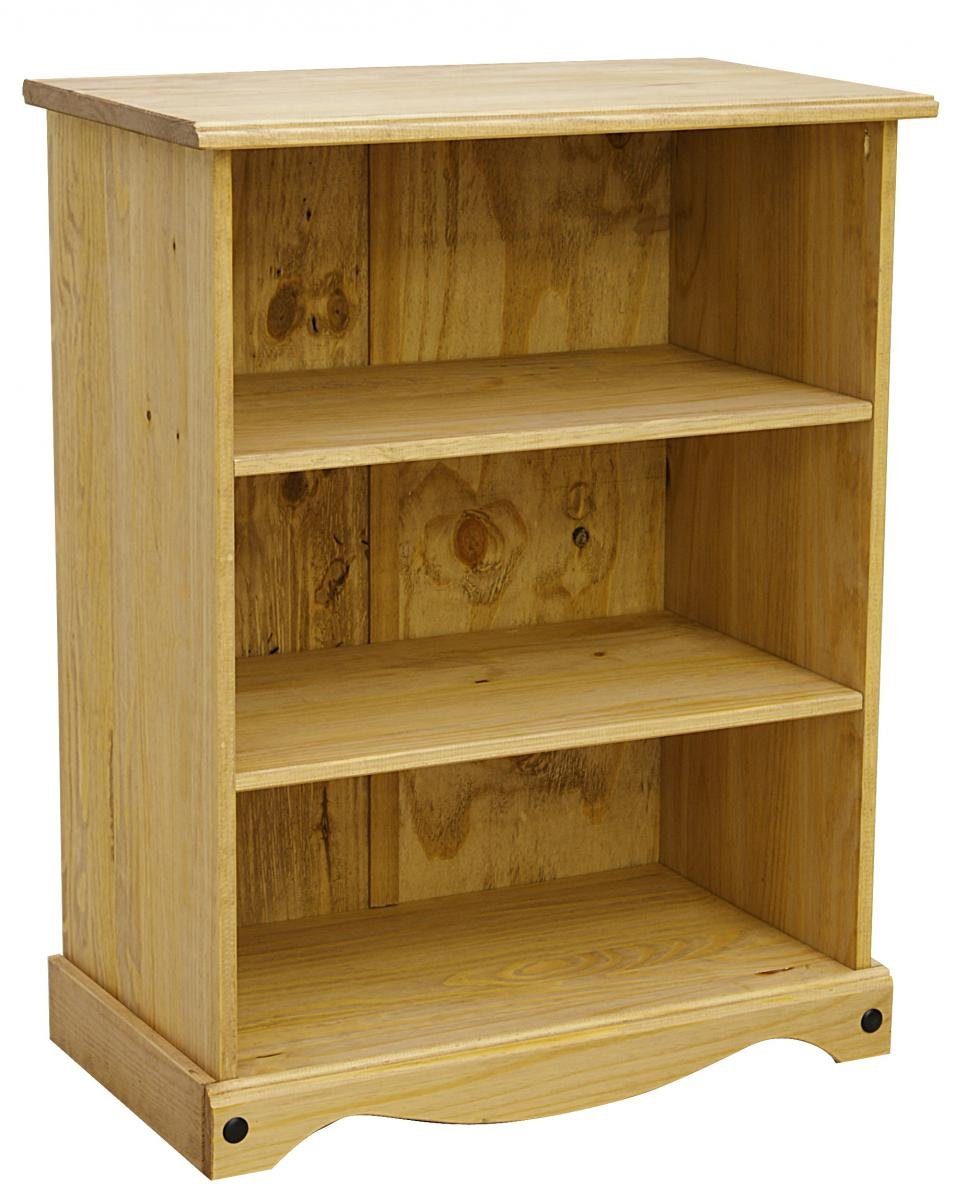 100% Solid Cheap Oak Corona Bookcase Small with 2 Shelves