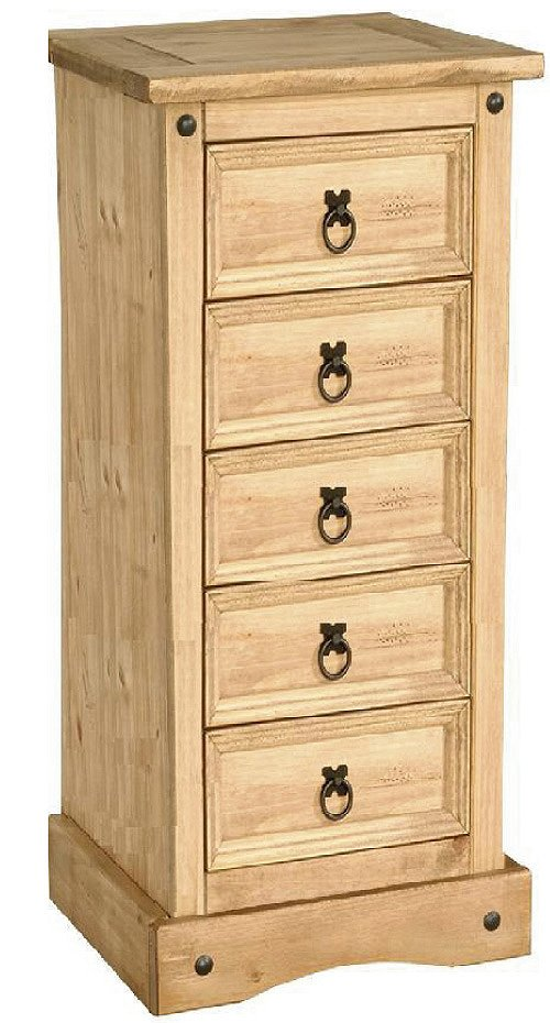 Cheap Corona Chest 5 Draw Narrow for your Bedroom