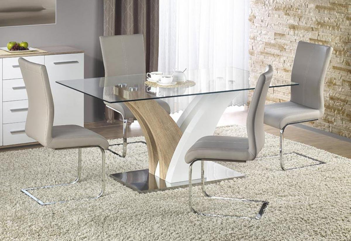 Stylish and Stunning Simone HG Dining Set with 6 Chairs
